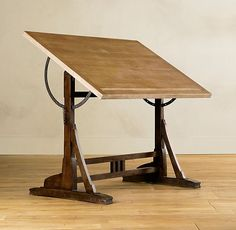 This literally made me salivate. Restoration Hardware 1920s French Drafting Table $995: