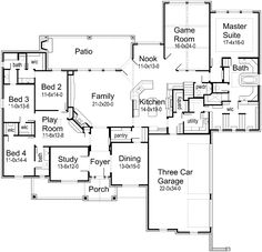 Great single story floor plan! This would be so incredible to build.