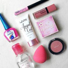 Maquillaje de hoy! #onwednesdaywewearpink #losmiercolesvamosderosa y más hoy que es el día mundial contra el cáncer de mama!