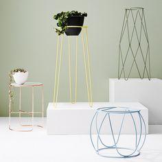 Ivy Muse · Calypso — The Design Files Iron Furniture, Table Furniture, Furniture Design, Architecture Art Design, Diy Plant Stand, Deco Design, Design Design, Plant Shelves, The Design Files
