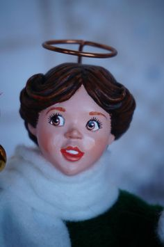 Selling at about 60.00 vintage rare handmade simpich brown haired angel doll Heather christmas holiday in People   eBay