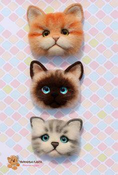 needle felted cat's toys #needlefeltedcat needle felted cat's toys Needle Felted Cat, Needle Felted Animals, Felt Animals, Needle Felting Tutorials, Wool Art, Felt Cat, Felt Brooch, Animal Projects, Cat Crafts