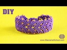 Video Tutorial for macrame laurel leaf bracelet