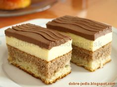 Dobré jedlo: Tvarohový koláč - recepty na dobré jedlo Czech Recipes, Russian Recipes, Sweet And Salty, Cheesecake Recipes, My Favorite Food, Easy Desserts, Food Dishes, Amazing Cakes, Coco