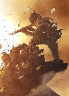 Titanfall art. I have no idea what this is but I dig it.