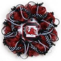 South Carolina Gamecocks Wreath Holiday Decorative Wreath, http://www.amazon.com/dp/B009XB995O/ref=cm_sw_r_pi_awd_Mzjrsb170C0J2