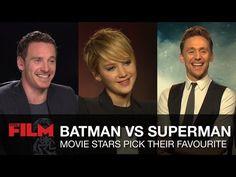 Batman vs Superman: Movie Stars Pick Their Favourite. Hugh Jackman, Michael Fassbender, Jennifer Lawrence, Natalie Portman, Harrison Ford, Channing Tatum, Jamie Foxx, Tom Hiddleston and Christ Hemsworth