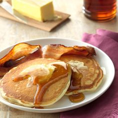 Fluffy Pancakes Recipe -I found this recipe among our old family favorites and adapted it to make a small amount. It's quick and easy to prepare, but we still consider it a special treat. —Eugene Presley, Council, Virginia