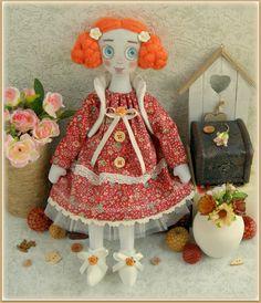 fabric soft doll Candy rag doll cloth doll мягкая тряпичная кукла мягкие игрушки текстильная кукла handmade doll ooak redhead doll
