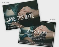 Beautiful, Professional Photoshop and MS Word Templates by ShalexDesigns Save The Date Templates, Wedding Card Templates, Wedding Cards, Announcement Cards, Wedding Announcements, Thank You Cards, Dating, Photoshop, Invitations