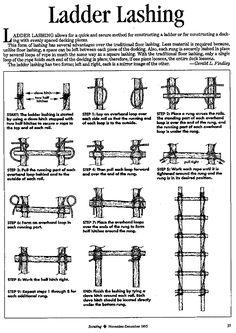 ladder lashing | Ladder Lashing from Scouting Magazine