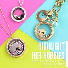 {Gifting Made Easy}. Hobbies inspire happiness.  Surprise a friend with a Living Locket that reflects her unique interests.  Order online at :  www.cherishedmoments.origamiowl.com