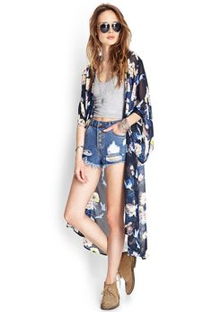 Kimonos are THE piece to wear during the hot days. They're perfect for the summer, being light and flowy while chic all at the same time. Pair them with skinnies or a crop top and deni…