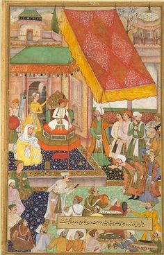 PAINTINGS GALLERIES: Akbarnama : Paintings of Mughal Costumes, Ornaments and Cultural History of India
