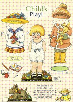 "Mary Engelbreit's illustrations for ""Time For Tea"" | Mary Engelbreit's Home Companion Paper Dolls, Ann Estelle | Flickr ..."