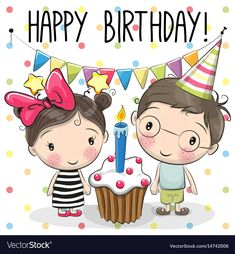 Happy Birthday to my beautiful little sister Michelle & my handsome baby boy Art He's her gift Baby Birthday Card, Birthday Wishes Cards, Happy Birthday Messages, 38th Birthday, Happy Birthday Cartoon Images, Birthday Images, Bff Drawings, Art Drawings For Kids, Cute Cartoon Girl