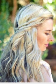 Like the idea of braiding/twisting and plaiting the hair whilst leaving it down and wavy