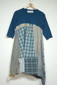 Large Boho Shabby Chic Tunic Patchwork Long Tunic Dress Eco