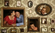 Photo Booth Idea for weddings or family reunions