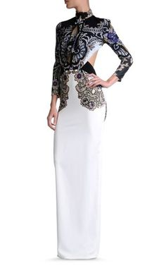 Just Cavalli Woman Paneled Lace And Printed Cotton Chiffon Maxi Dress Beige Size 38 Just Cavalli Sale Low Shipping Fee Order LVIoEW6t5