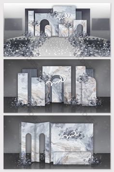 Geometric inkjet painting marble effect wedding effect Wedding Backdrop Design, Wedding Stage Design, Wedding Set Up, Map Wedding, Wedding Table, Wedding Ideas, Engagement Decorations, Outdoor Wedding Decorations, Backdrop Decorations
