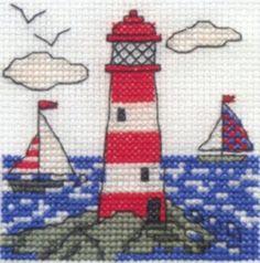 Lighthouse Cross Stitch Kit by DMC | Hulu