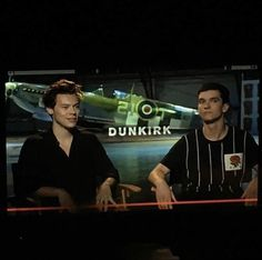 Harry and Fionn doing Dunkirk promo in Los Angeles today 7-7-17