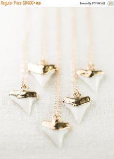SALE Mano-niho-kahi necklace gold shark tooth by kealohajewelry