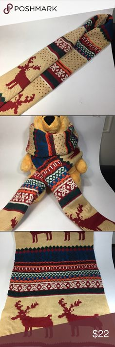 Winter Scarf reindeer (Not from the brand) Winter scarf Abercrombie & Fitch Accessories Scarves & Wraps
