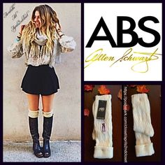 ABS Ivory Tall Over The Knee Boot Socks ABS Ivory Tall Over The Knee Boot Socks-   * Super soft & cozy fabric; Fall/Winter weight warmth.  * Over the knee length hits at bottom of thigh w/thin ribbed cuffs (can be rolled over).  * Stretch-to-fit style; Allover texture. Tagged one size fits most, shoe size 4-10. Fabric: 98% Polyester & 2% Spandex Color: Ivory 112200 ***The texture on each pair varies slightly.  No Trades ✅ Bundle Discounts✅ ABS Allen Schwartz Accessories Hosiery & Socks