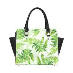 Green Fern Classic Shoulder Handbag (Model 1653)