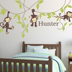 Alphabet Garden Designs Monkey Around Wall Decal Vinyl Color: Butter