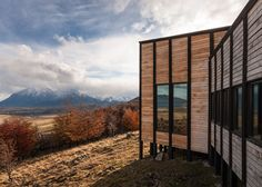 Felipe Assadi scatters timber lodges on a Patagonian hill