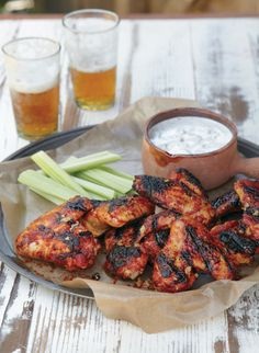 Spicy Chicken Wings with Blue Cheese Dip *NomNomNom