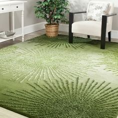 Shop for Safavieh Handmade Soho Burst Green New Zealand Wool Rug (8' Square). Get free shipping at Overstock.com - Your Online Home Decor Outlet Store! Get 5% in rewards with Club O!