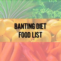 Banting Diet Food List PDF Download | Low Carb Love