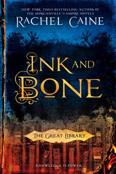 "The Great Library Ink and Bone / Rachel Caine ""Jess Brightwell lives in a world in which the Great Library of Alexandria never burned. Instead, it thrived, and today, it controls the knowledge of the world. It's illegal to own personal books, but Jess's family makes a fortune from the smuggling trade. When he's sent as an apprentice to the Library (and a spy), everything he knows will be upended ... because the Library is a far harsher, darker place than he ever imagined."""