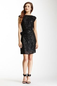 A.B.S. Open Back Sequin Double Bow Dress by Non Specific on @HauteLook