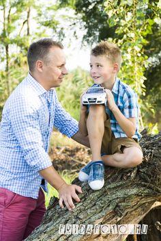 Családi fotózás, apa-fia portré / Family photography, Father-son portrait
