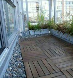 balkon sichtschutz bambus holzfliesen verlegen | josi | pinterest, Moderne