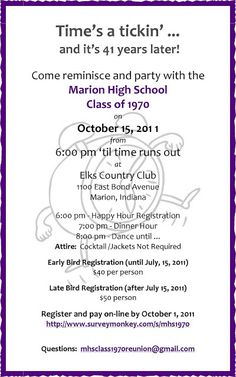 class reunion program template - 1000 images about class reunion inivitations on pinterest