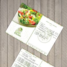 Design the menu / flyer for The Green Kitchen Restaurant by ZS.99
