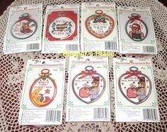 Lot Of 7 The New Berlin Co Christmas Ornament Cross Stitch Kits New Sealed #TheNewBerlinCompany #Ornament