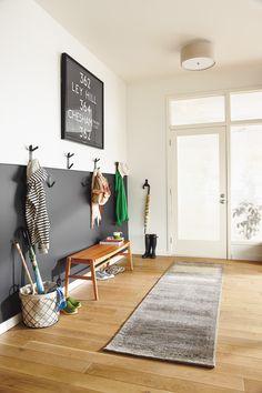 Learn how to create an organized, modern entryway.