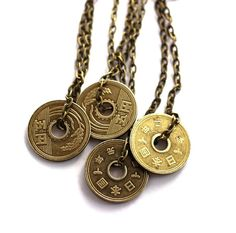 Japanese Coin Necklace Authentic Undrilled 5 Yen Upcycled Pendant Jewelry by Hendywood