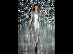 DESIGNED BY GILES DEACON, DRESS, SPRING/SUMMER 2012 Laser-cut metallic leather with Swarovski crystals. Museum purchase with funds donated by the Fashion Council, Museum of Fine Arts, Boston. Photograph by Chris Moore Catwalking.com. Courtesy Giles Deacon.