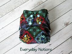 Cloth Diaper - Folk Quilt - One Size Pocket Cloth Diaper by EverydayNotions4You on Etsy
