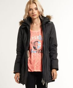Superdry Hooded Super Wind Parka Coat - Women's Jackets & Coats