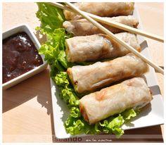Salseando en la cocina: Rollitos de primavera de obleas de arroz