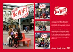 "In un mondo always-on, Kit Kat propone la No Wifi Zone, in linea col concept ""Have a break""."